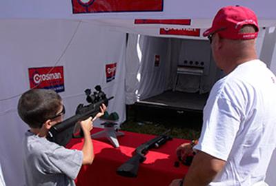 Crossman's shooting range (pellet gun)