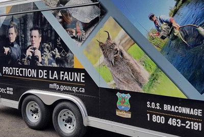 Mobile units of Wildlife Conservation Officers