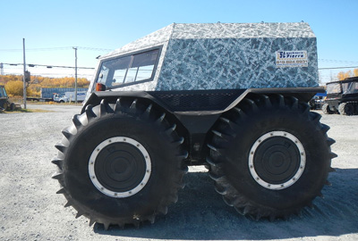 SHERP amphibious vehicle on site